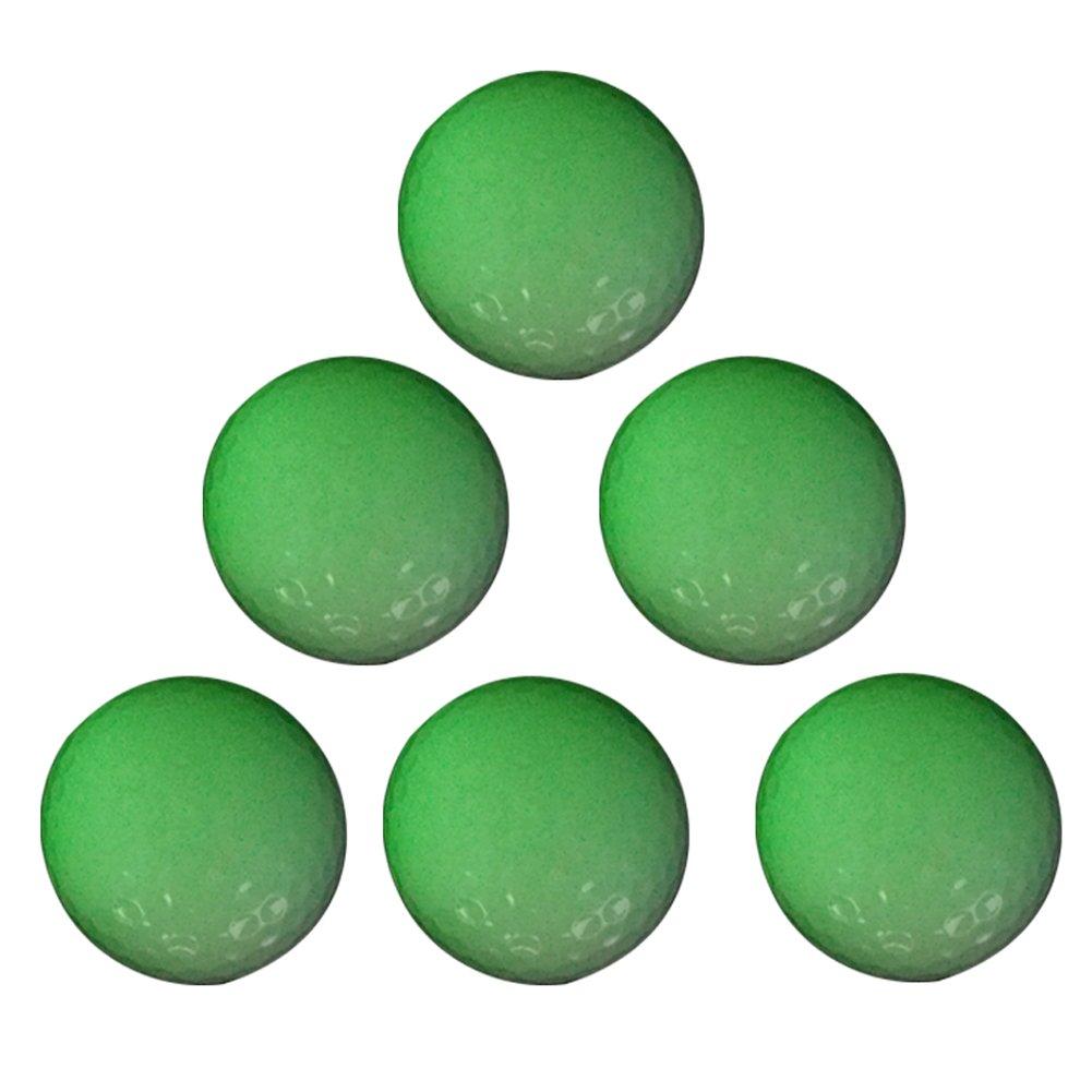 EliteShine 6-Piece Luminous Fluorescent Glow-in-The-Dark Night Golf Ball Rechargeable by Sun Light