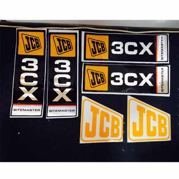 J-c-b 3cx Backhoe Loader Sticker Kit - Buy Decal Kit,Sitemaster Sticker,3cx  Sticker Product on Alibaba com