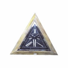 Triangle shape wooden framed large size 27 Inch Wall clock