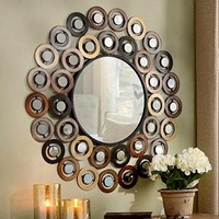 Small Circle Round Metal Wall Decor