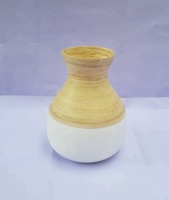 Vietnam lacquer bamboo vase for sale