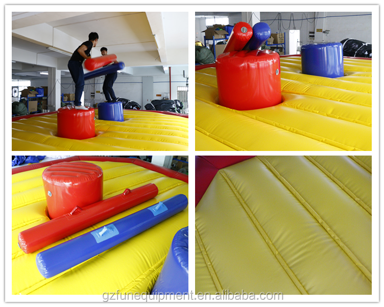 Inflatable Deluxe Gladiator Joust Game Inflatable Jousting Arena For Sale