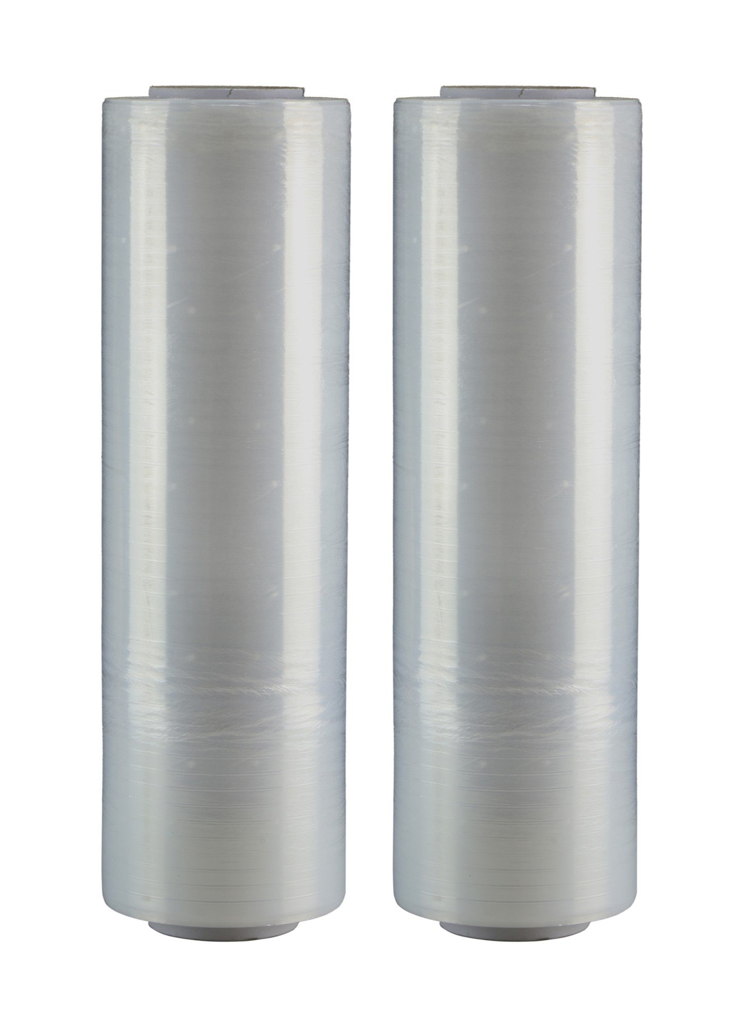 """AMERIQUE Shrink Wrap 2 Pack (3000FTX18"""", 20LBS Total): Stretch Film Plastic Wrap - Industrial Strength Hand Stretch Wrap, 18""""x 1,500 FT Per Roll, 80 Gauge Shrink Film / Pallet Wrap – Clear"""