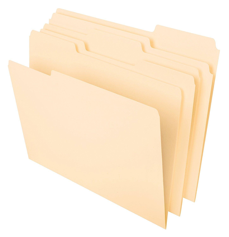 Pendaflex File Folders, Letter Size, 1/3 Cut, Manila, 100 per Box (752 1/3) 2-Pack