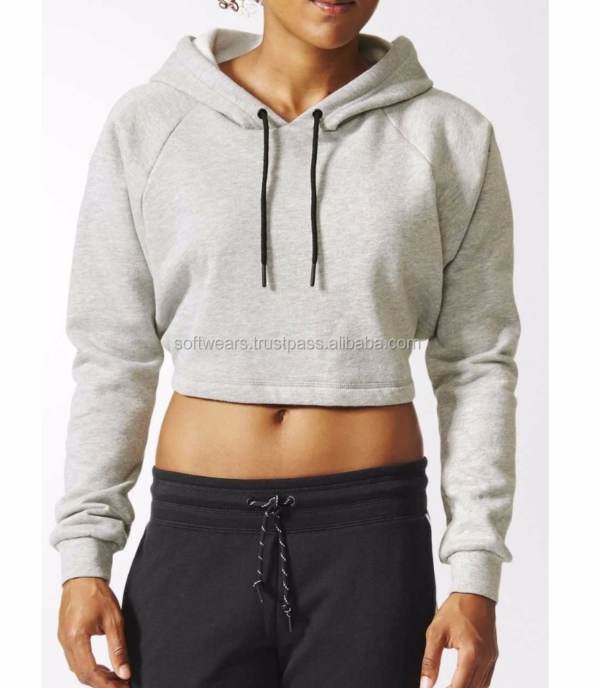 100% cotton cropped top cheap hoody mens