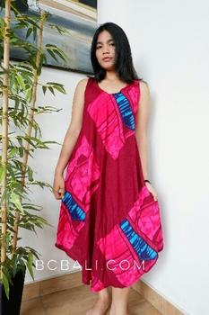 Bali Clothing Dresses Pattern Motif Handmade Cringkle Buy Bali