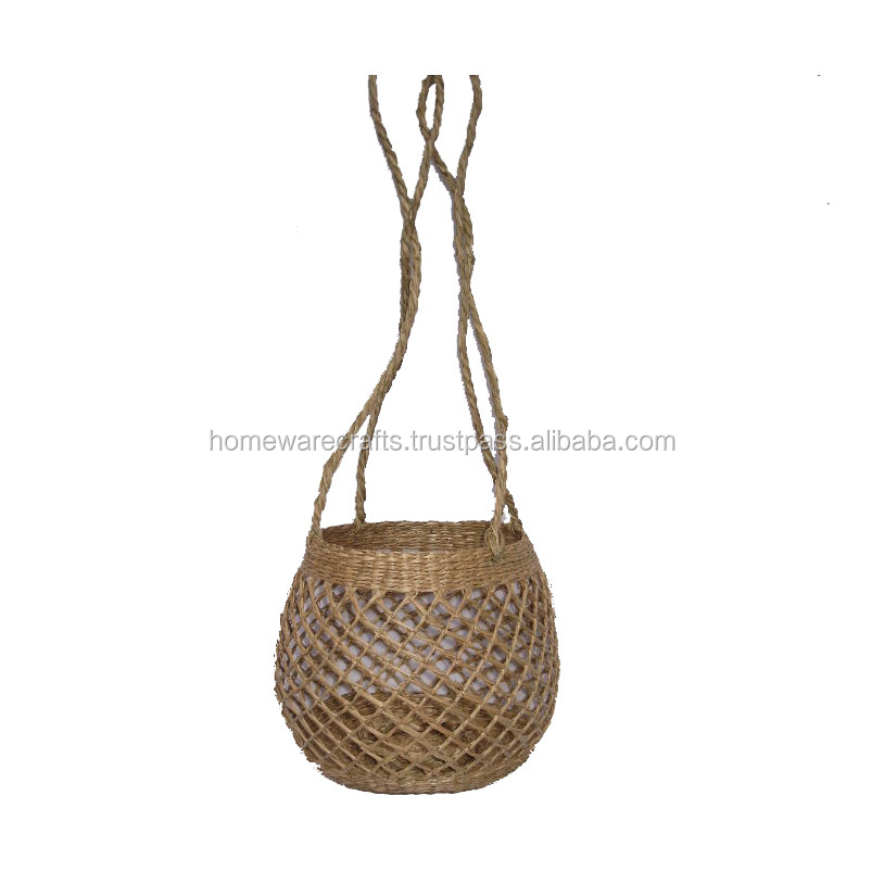 "CLEARANCE SALE 2 x 12/"" WICKER//BAMBOO HANGING BASKET SUPPLIED WITH HANGING CHAIN"