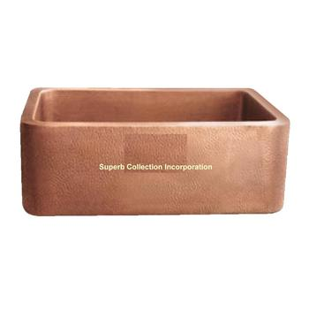 copper sink Rounded Apron Front Farmhouse Kitchen Double Bowl Mexican Copper Sink