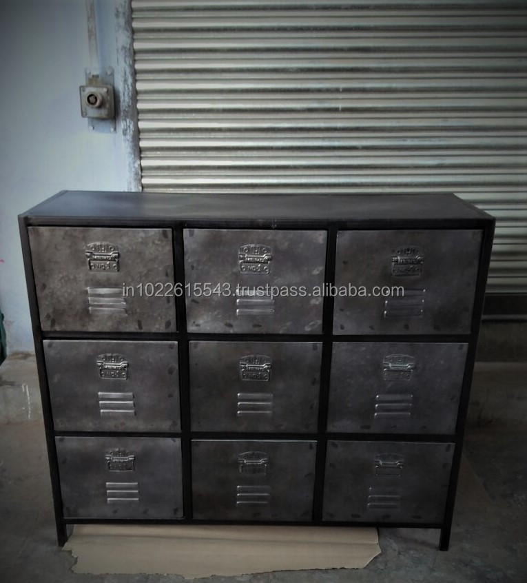 Industrial Metal Chest Of Drawers With 9 Drawer Buy Chest Of