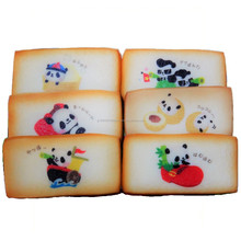 Yokohama inspired shortbread cookies with panda print bonus sticker included