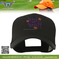 2016 Custom High Quality adjustable black color embroidery baseball caps
