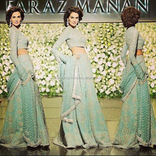 Sea green bridal lehenga designs 2018