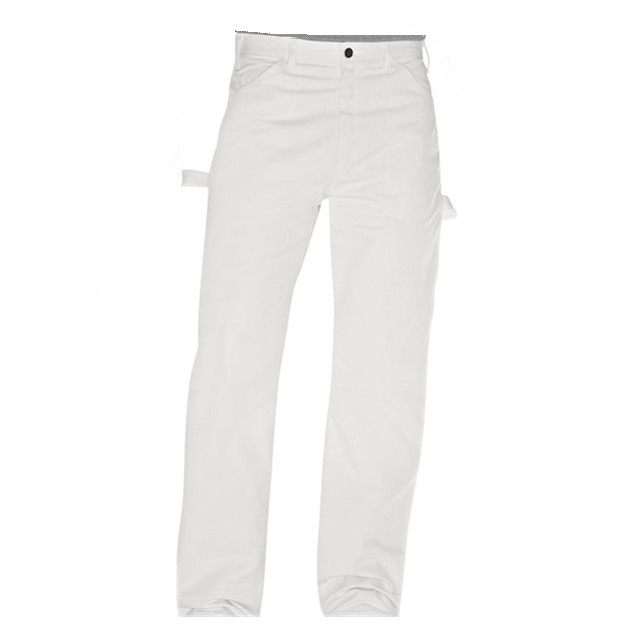 Men's workwear White Painter Pants Work Trousers
