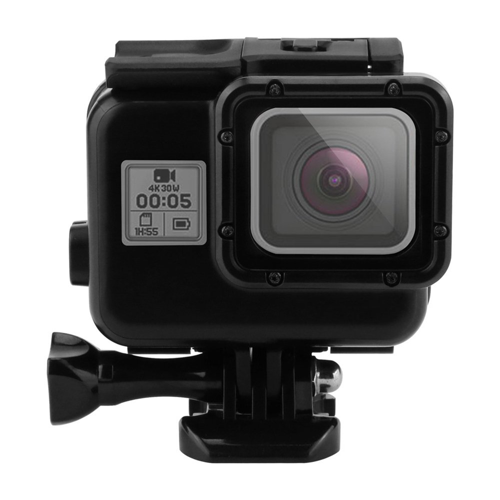 ALLCACA Waterproof Case Protective Housing Cover Underwater Housing Case with Base for GoPro Hero 5, Black