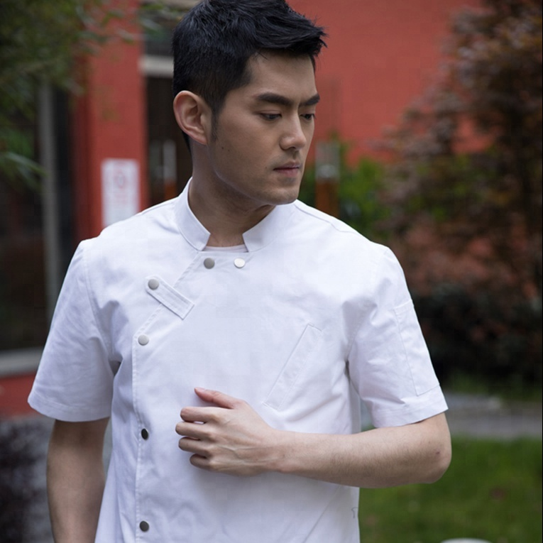 Hot Koop Hotel Restaurant Chef Uniform Korte Mouwen Chef Uniform OEM Chef Uniform