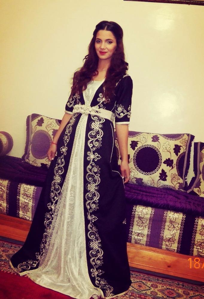 كريستال عمل زفاف قفطان مغربي-ملابس إسلامية-معرف المنتج