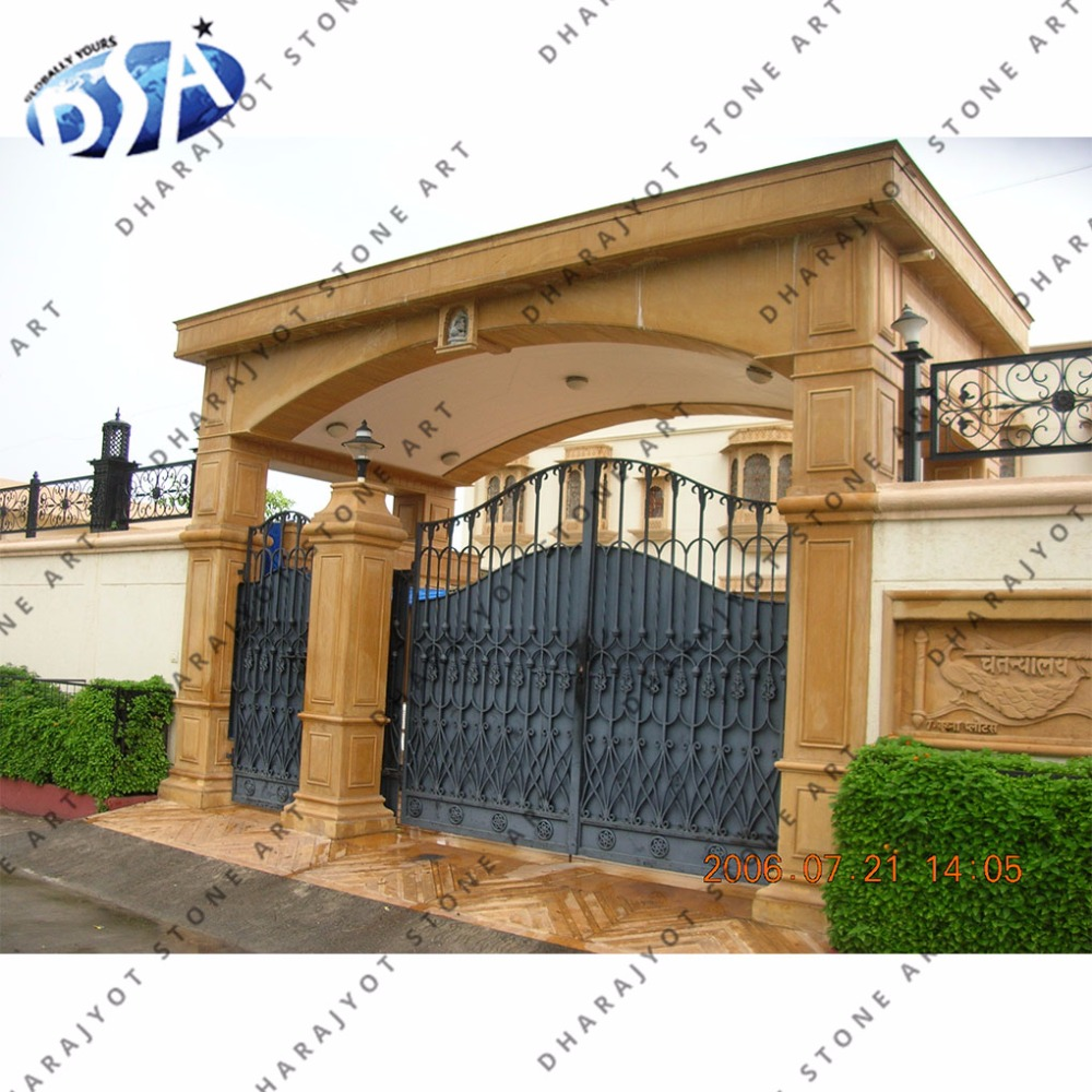 Yellow Sandstone Big Size Simple Entrance Gate Buy Natural Stone Yellow Entrance Gate Home Decorative Main Entrance Gate Home Entrance Gate Design Product On Alibaba Com