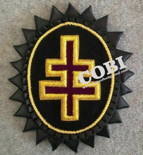 Masonic regalia \ Templar Grand Encampment Officer Chapeau Cross กับ Rosette ใน Bullion