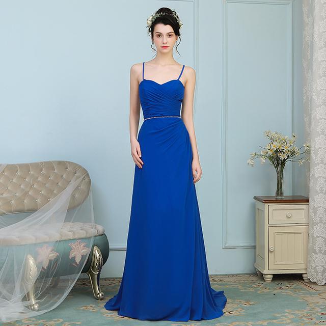 a4a84f3f4e Suzhou Formal de las mujeres azul real vestido de dama de honor para boda