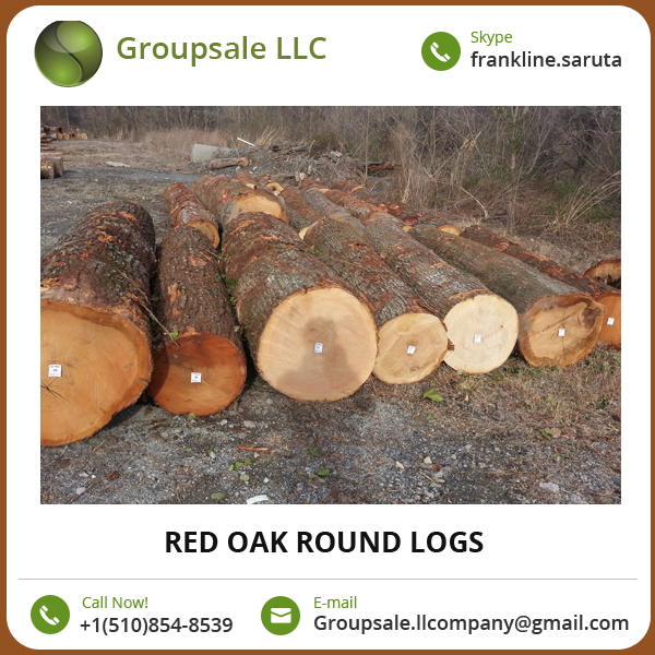 Fine Finish, Sturdy Design, Durable Red Oak Round Logs at Cost-Effective Price
