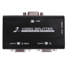 2 Port VGA LCD CRT Video Monitor <span class=keywords><strong>Splitter</strong></span>