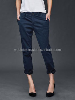 Wanita Chino Celana Wanita Elegan Kurus Dan Celana Longgar Buy