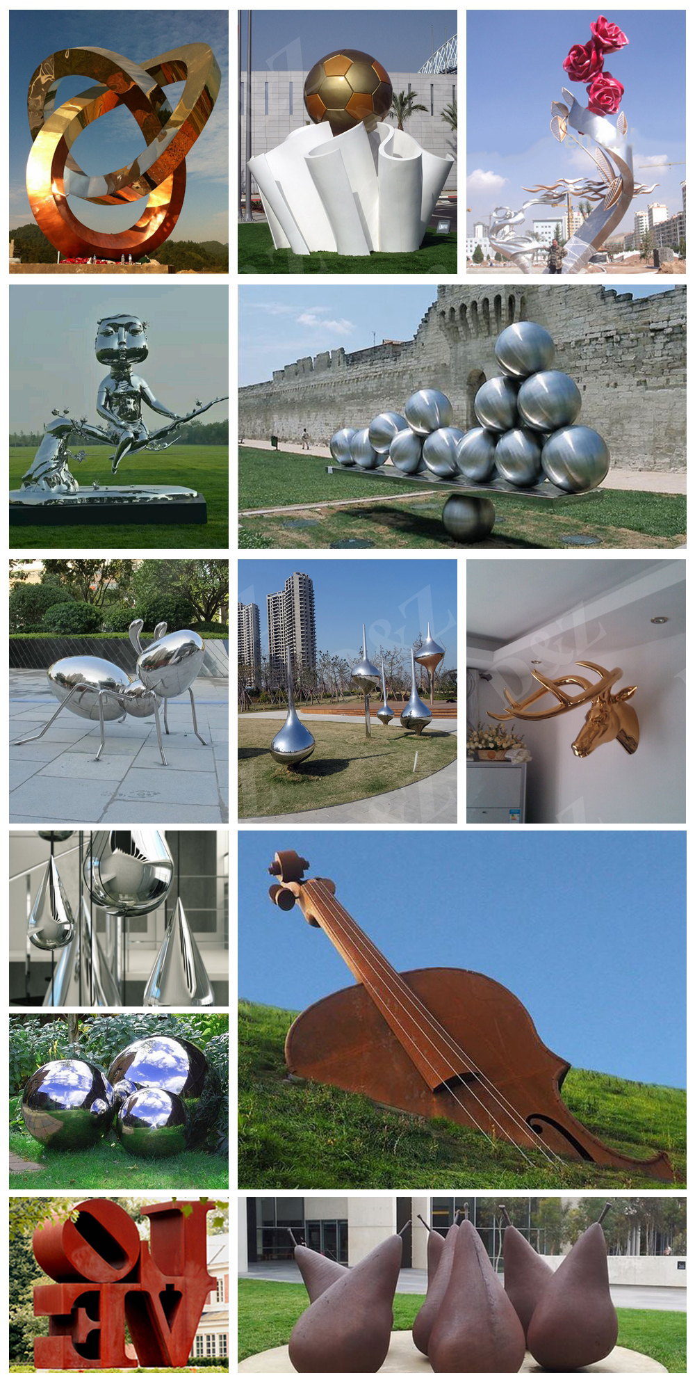 Europe indoor steel sculptures for luxury hotels decoration