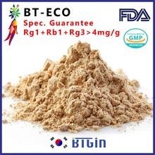 Korean red panax ginseng extract powder grown in Korea (Rg1+Rb1+Rg3>4mg/g) BT-ECO