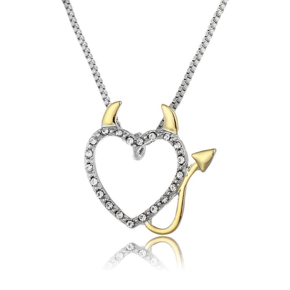 cca0b7fcc3d9 Get Quotations · TenDollar Decoration Pendant Accessories Necklace Love  Heart Accent Devil Heart By TenDollar