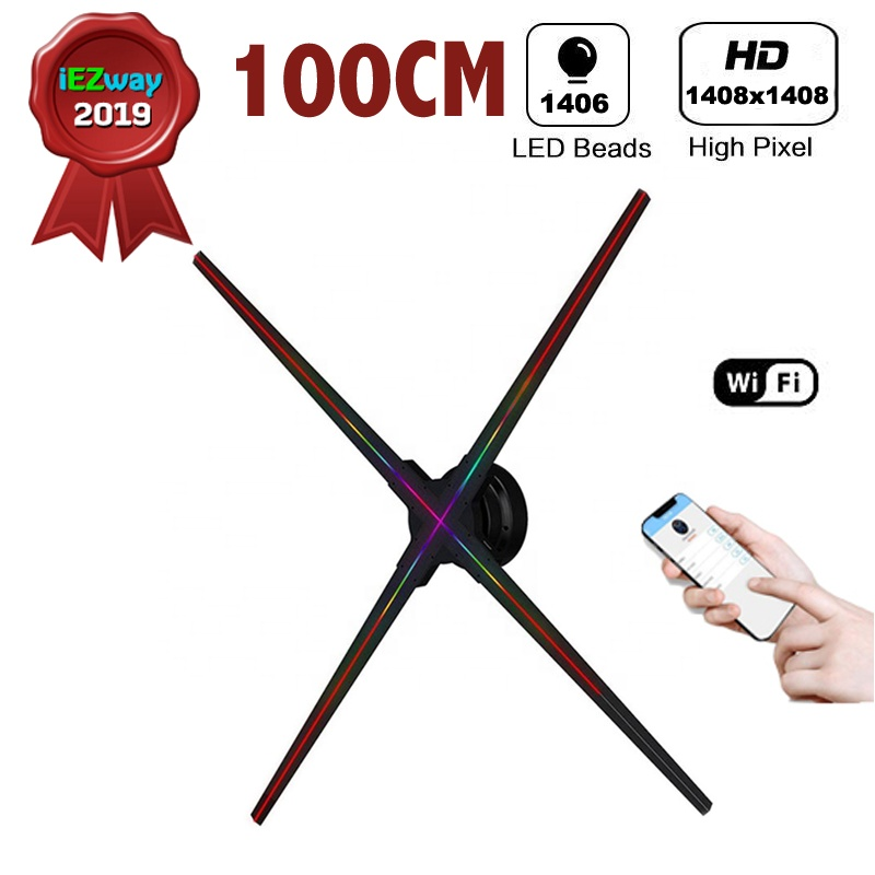2019 Iezway Hot Alibaba Express High Resolution 1408x1408 Pixel 3d Led  Displayer Wifi 100cm Hologram Fan - Buy Hologram Fan,100cm Hologram  Fan,Wifi
