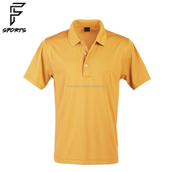 Customized Promotion Plain Short Sleeves Men Yellow Polo T Shirt
