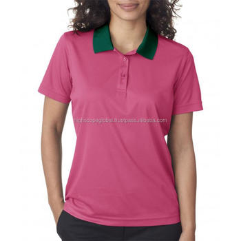 26a59e59 High Quality Cotton Polyester Women Polo Shirt printing Custom Logo Ladies Golf  Short sleeves Collar New