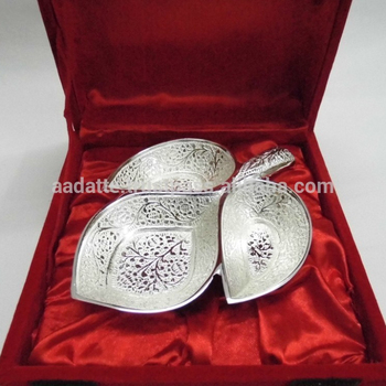 fdb22955b4b3 Gift and crafts handmade silver plated brass decorative bowl with embossing  designs