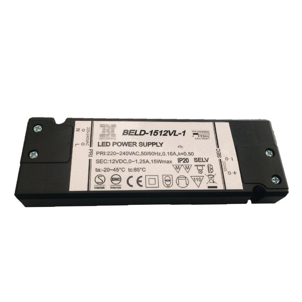 Super Slim LED Driver 15w Ac220-240v Dc12v Constant Voltage LED Lighting Transformer LED Power Supply for LED Lamp
