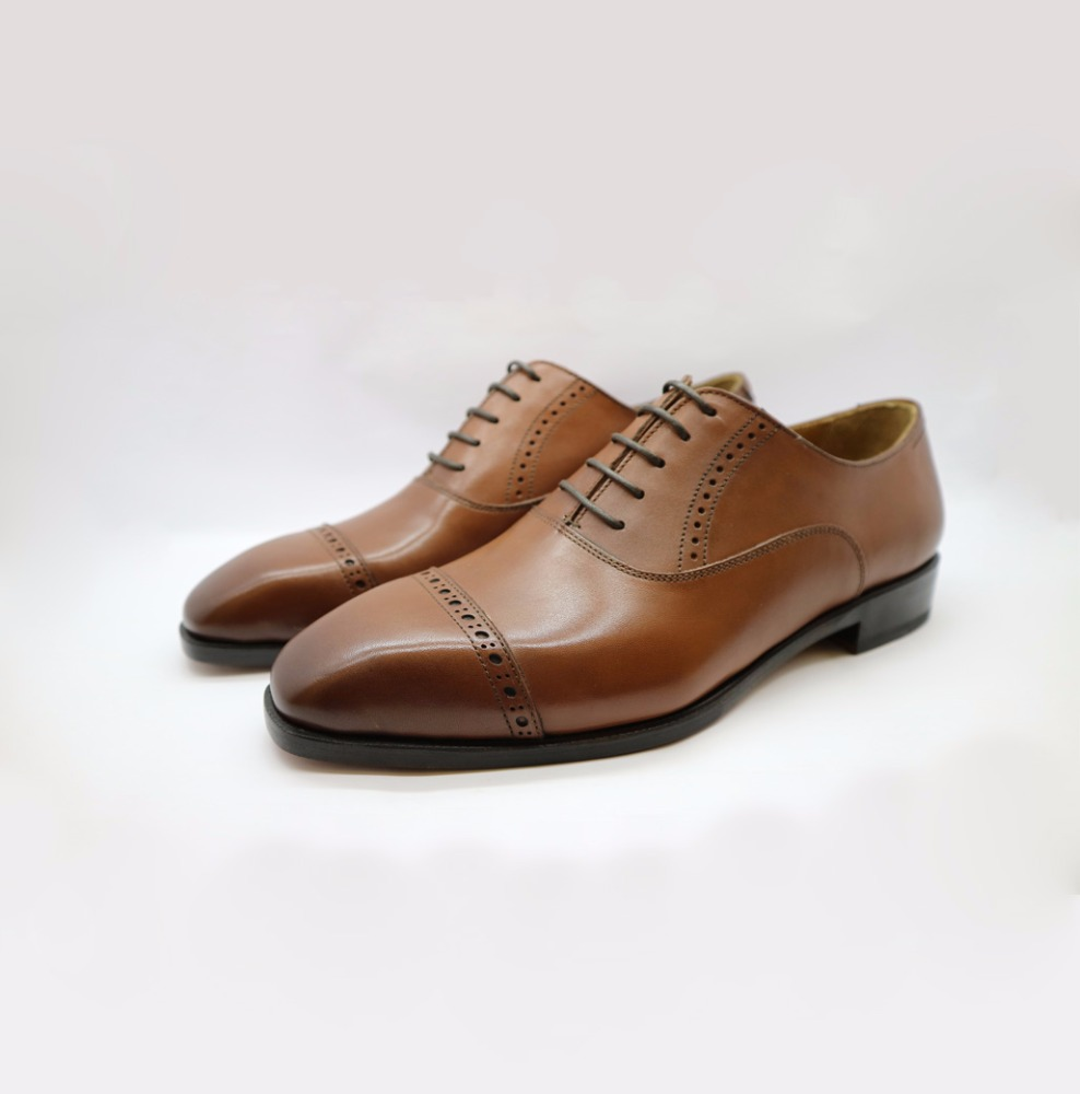 Oxford Made for Hand Men Leather Shoes Captoe fEdSqf
