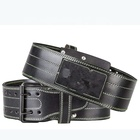 Comfortable & Durable Broken-in Genuine Leather/Weight Lifting Belt for Squats, Deadlifts, Gym Workouts