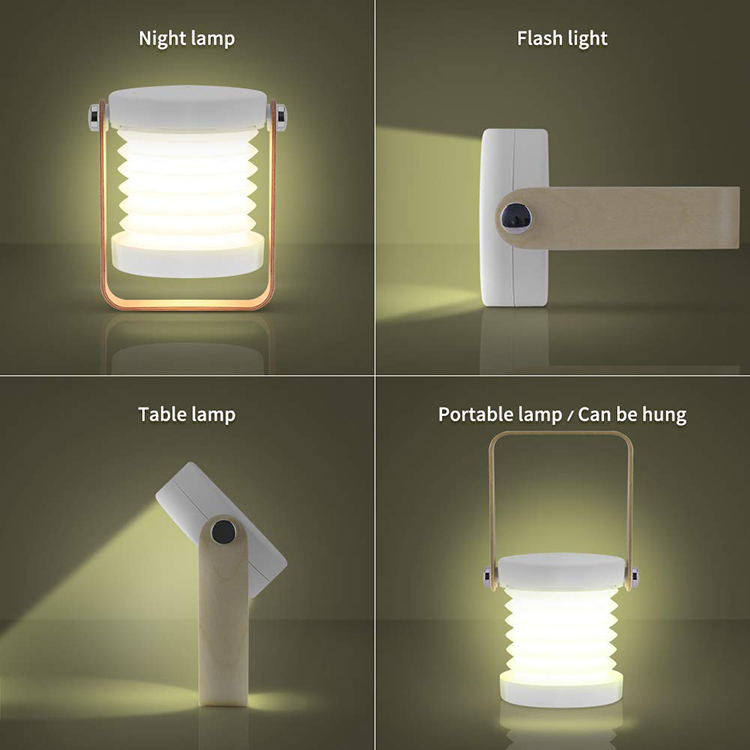 2020 Portable Rechargeable Collapsible Desk LED Lamp 3D Night Light