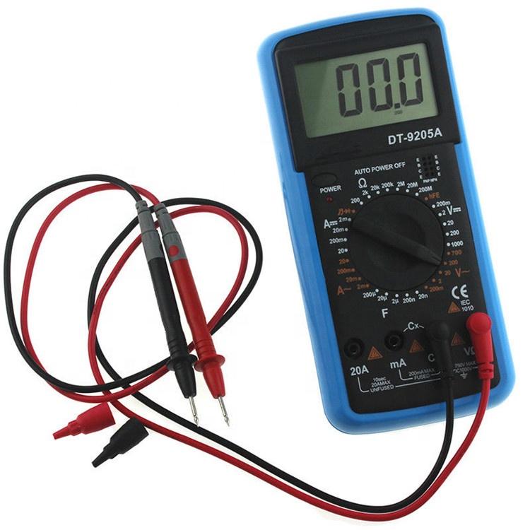 lomvum Auto Range multimetro Digitale 6000/conti E 2000uf Digitale AMP//Ohm//voltmetro Multi tester con la prova della capacit/à E misurazione di temperatura multimetro Digitale