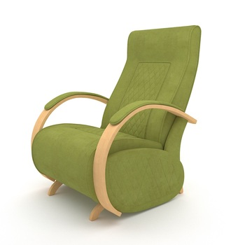 Armchair G3 Natural Veneer (Apple Green)