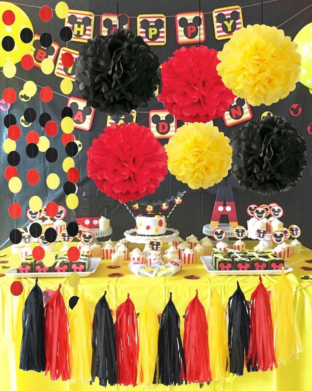 Cheap Black And Red Birthday Party Decorations Find Black And Red