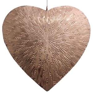 Large Metal Hanging Heart Decoration