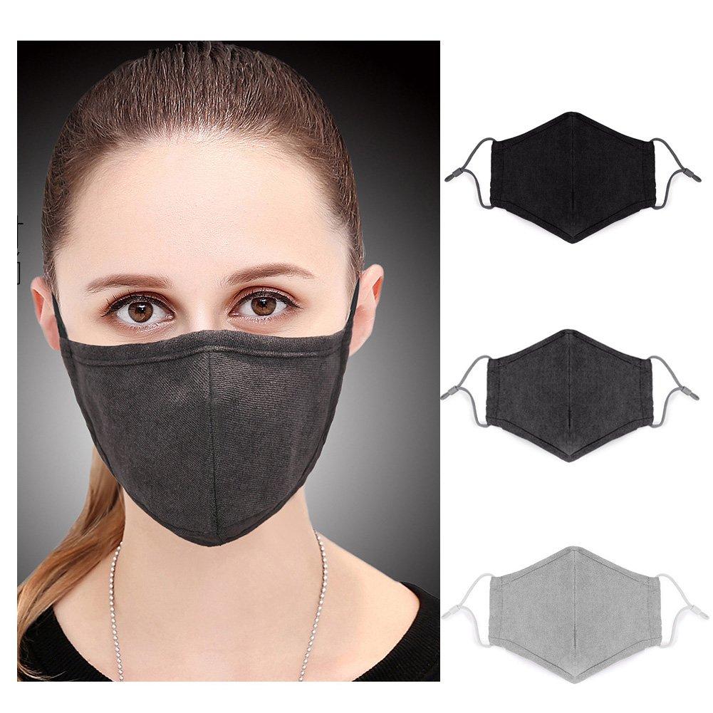 1f8c88c6a89 Get Quotations · Adult N95 Respirator Mask Black Gray Face Mask - Flu Mask