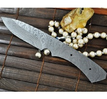 Custom handmade  Damascus hunting blank blade  knife