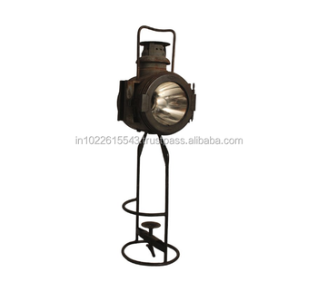 Industrial Rustic Cast Iron Table Lamp, Rustic Iron Style Table Lamp