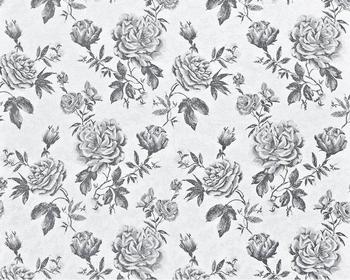 Edem 687 96 Nonwoven Wallpaper Xxl Floral Pattern Roses Black
