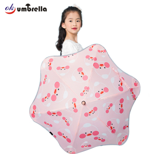 Safty round corner fashion custom new design kids umbrella