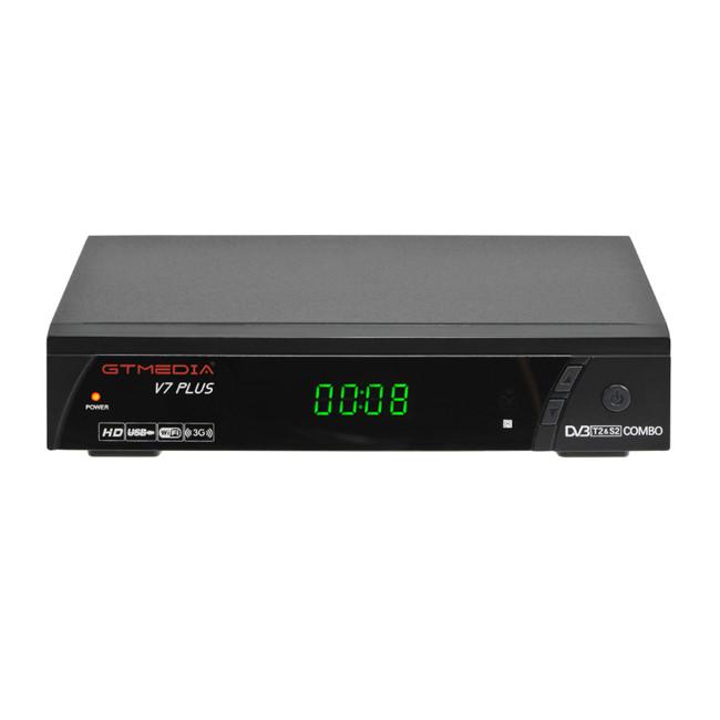 Gtmedia V7 Plus Dvb-s2 Modulator Dvb-t2 Receiver Support H 265 Satellite  Receiver Support Usb Wifi Dongle Media Player - Buy Dvb-t2 Receiver,Dvb-s2