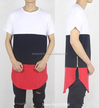 (High) 저 (질 망 면 표현한 스트라이프티 Zipper t-shirt/extendedslim-fit/Skateboard Skate Swag