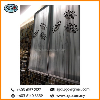 Kitchen Decorative Printed Glass Inserts Cabinets For Kitchen Doors