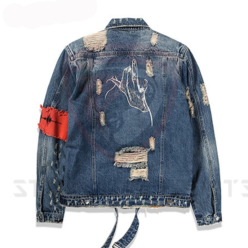 1db66f3134c custom logo design 100% cotton washed tinted wholesale men jeans jacket  denim bomber jacket